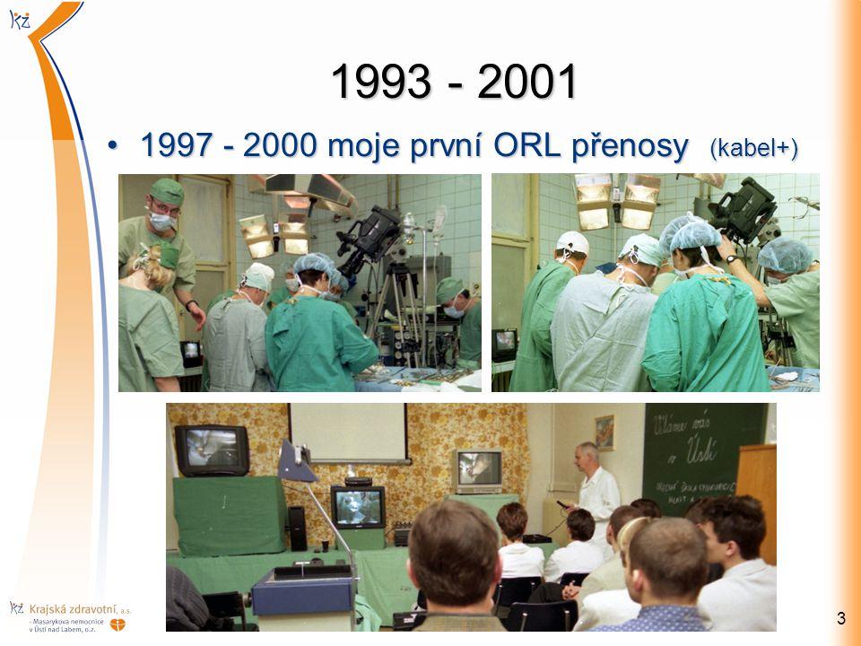 1993 - 2001 1997 - 2000 moje první ORL přenosy (kabel+)1997 - 2000 moje první ORL přenosy (kabel+) 3