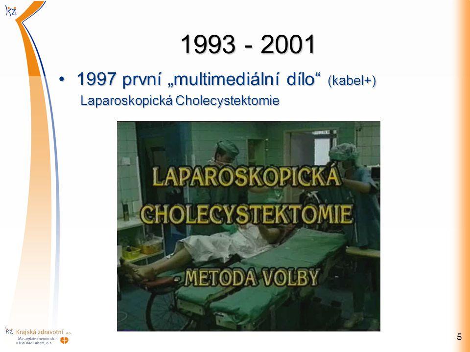 """1993 - 2001 1997 první """"multimediální dílo"""" (kabel+)1997 první """"multimediální dílo"""" (kabel+) Laparoskopická Cholecystektomie Laparoskopická Cholecyste"""