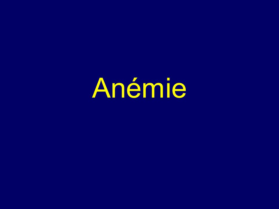 Anémie = chudokrevnost Anémie = pokles koncentrace hemoglobinu pod dolní limit normálního rozmezí.