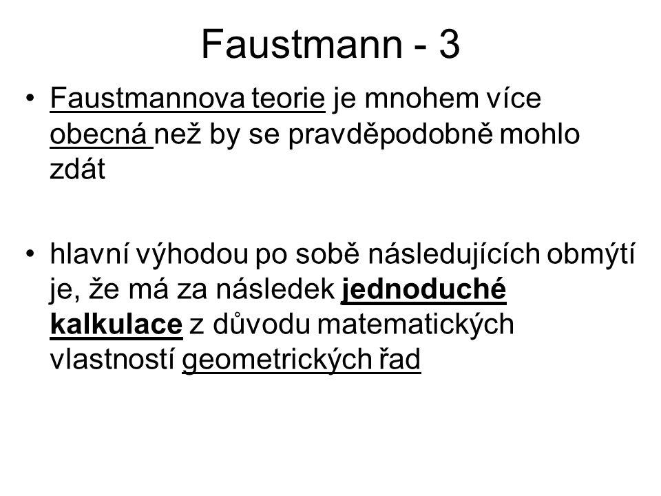 Faustmann - 4 Faustmannův hlavní příspěvek je dvojí: 1.