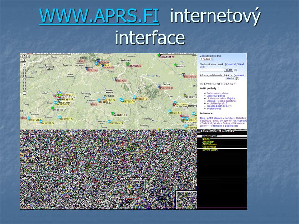 WWW.APRS.FIWWW.APRS.FI internetový interface WWW.APRS.FI