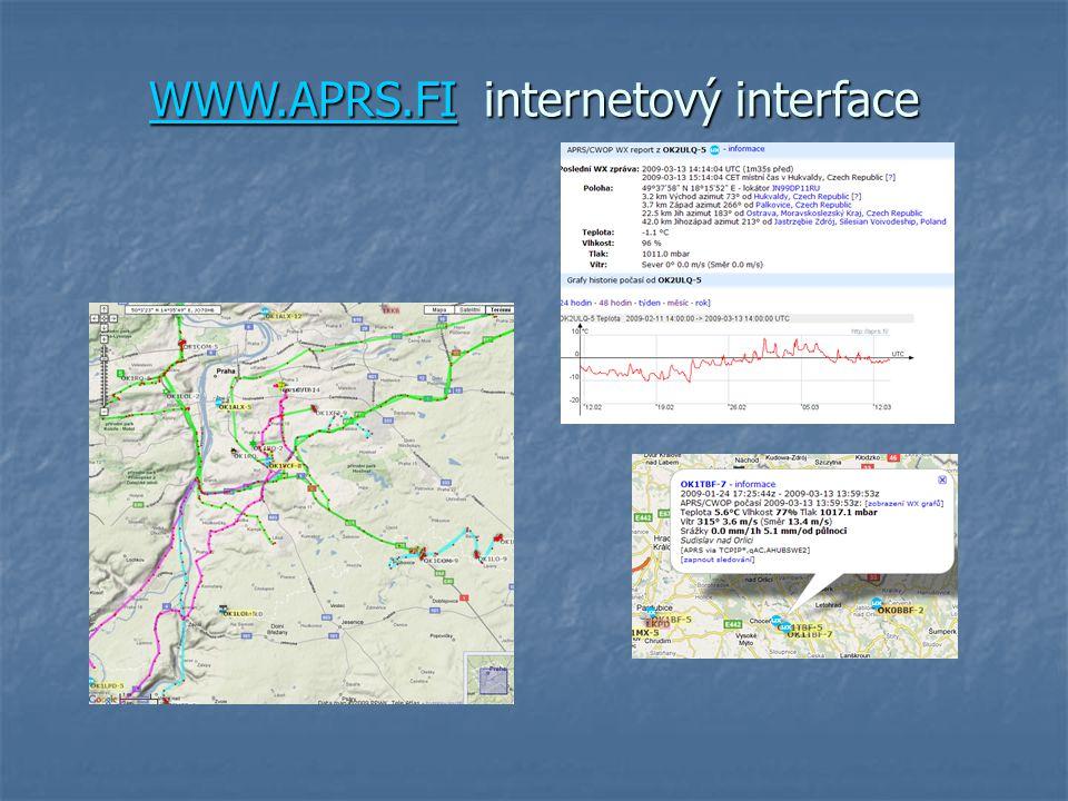 WWW.APRS.FI internetový interface WWW.APRS.FI