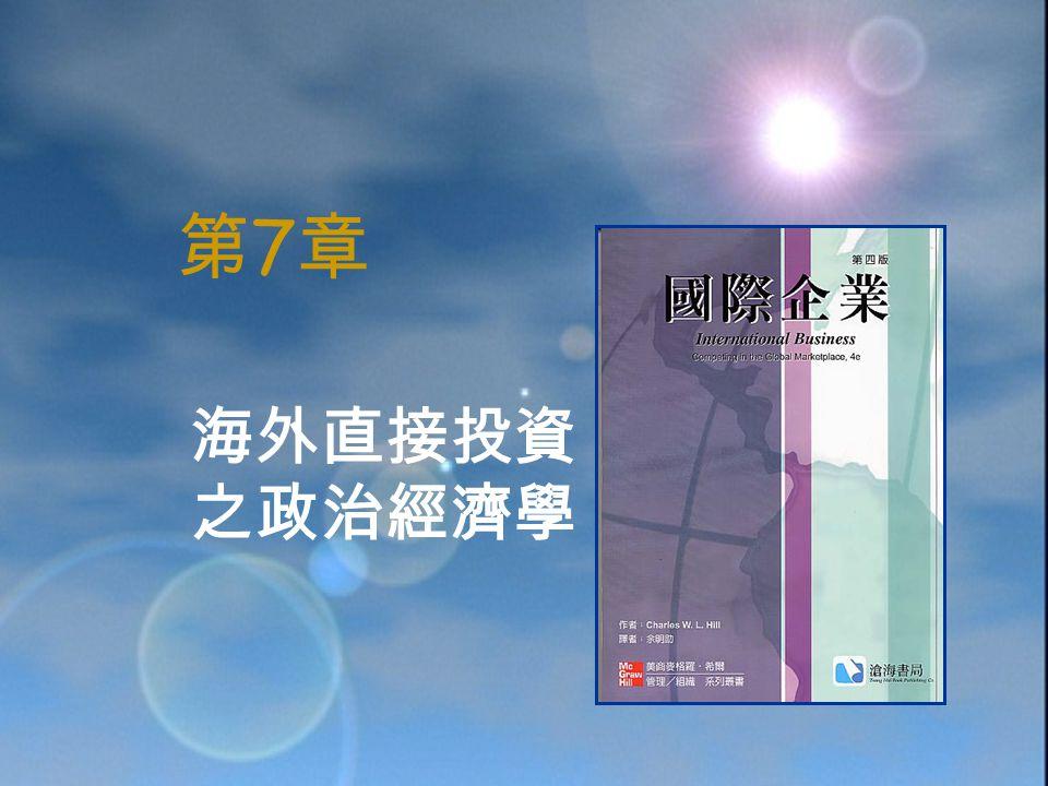 第7章第7章 海外直接投資 之政治經濟學