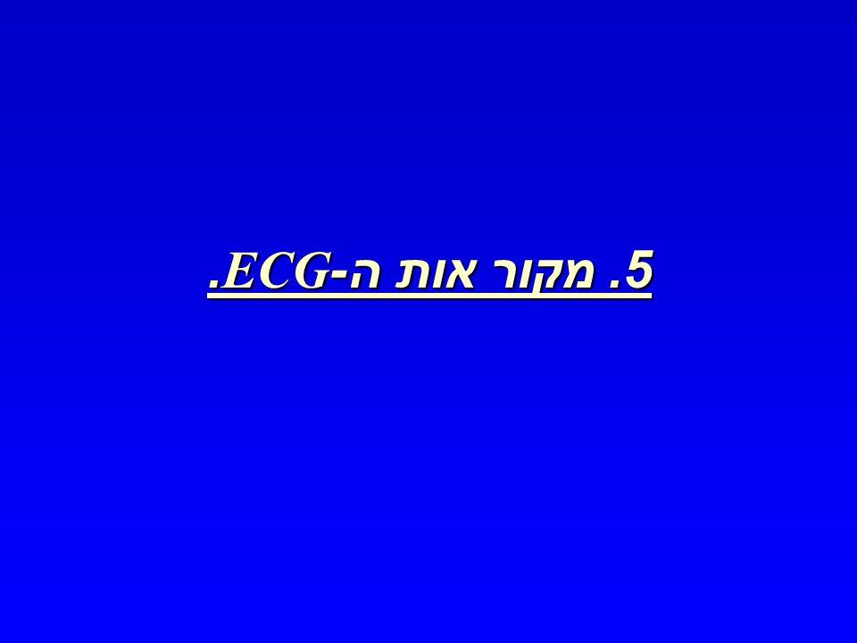 5. מקור אות ה -ECG.