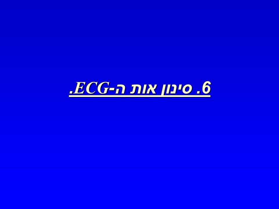 6. סינון אות ה -ECG.