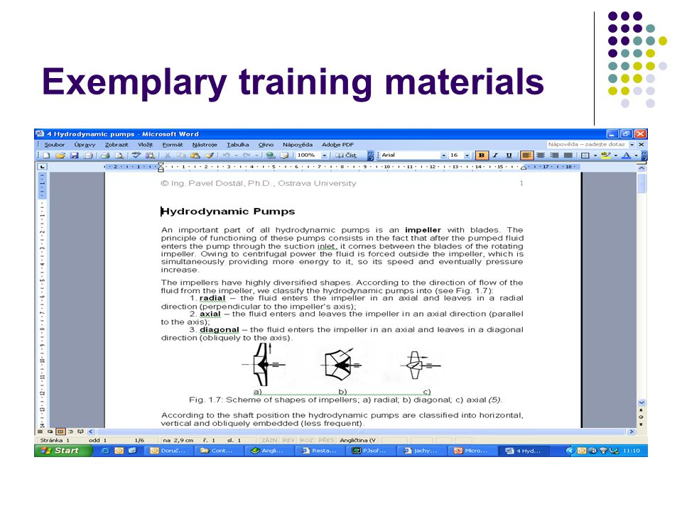 Exemplary training materials