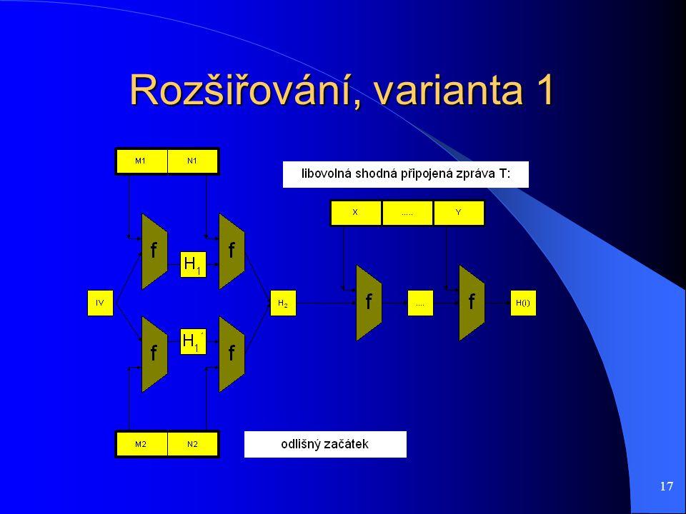 17 Rozšiřování, varianta 1
