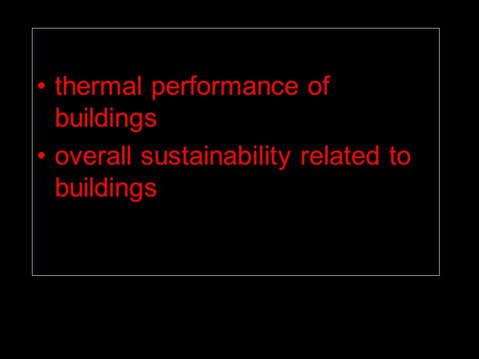 Thermal performance low-energy buildings (design, analysis) studies of real-quality (irregularities, air- tightness, etc.) moisture in building envelope radon distribution phenomena, design rules etc.