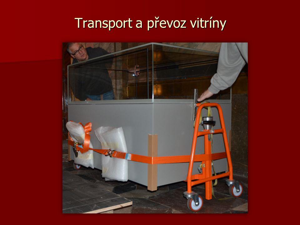 Transport a převoz vitríny