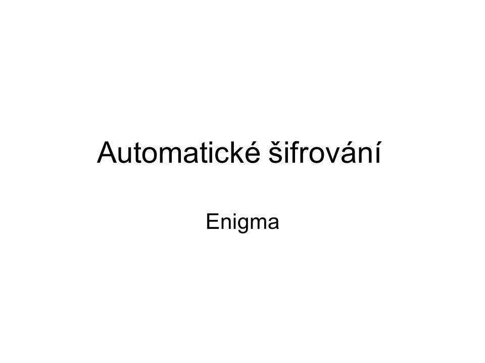 Automatické šifrování Enigma