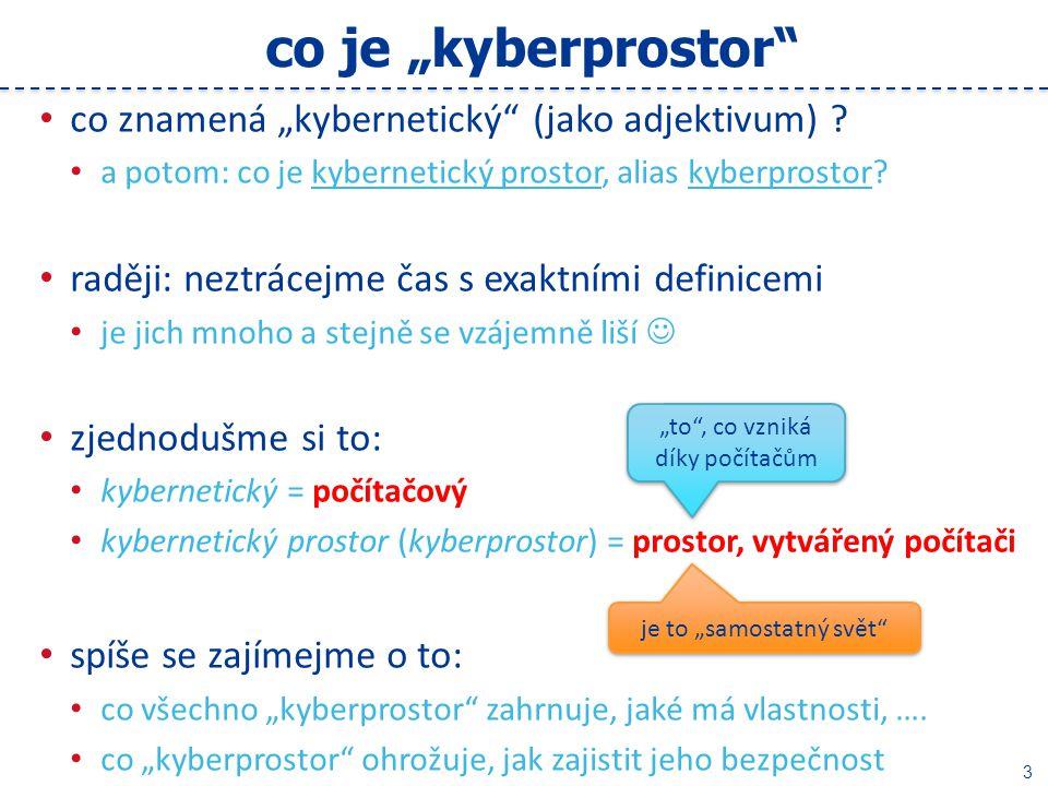 """4 co všechno """"kyberprostor zahrnuje."""