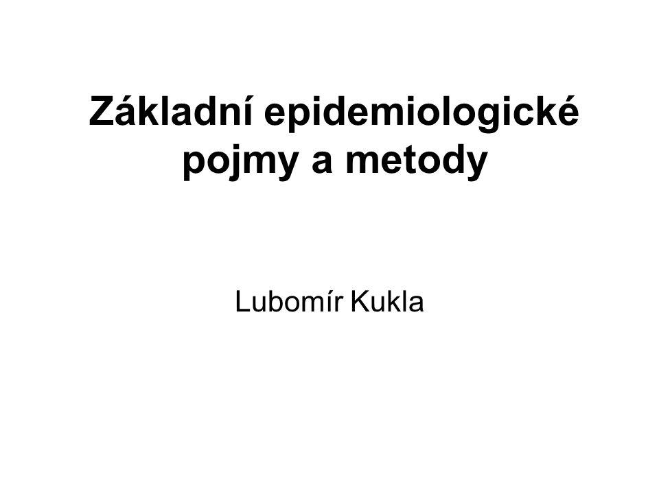 Základní epidemiologické pojmy a metody Lubomír Kukla