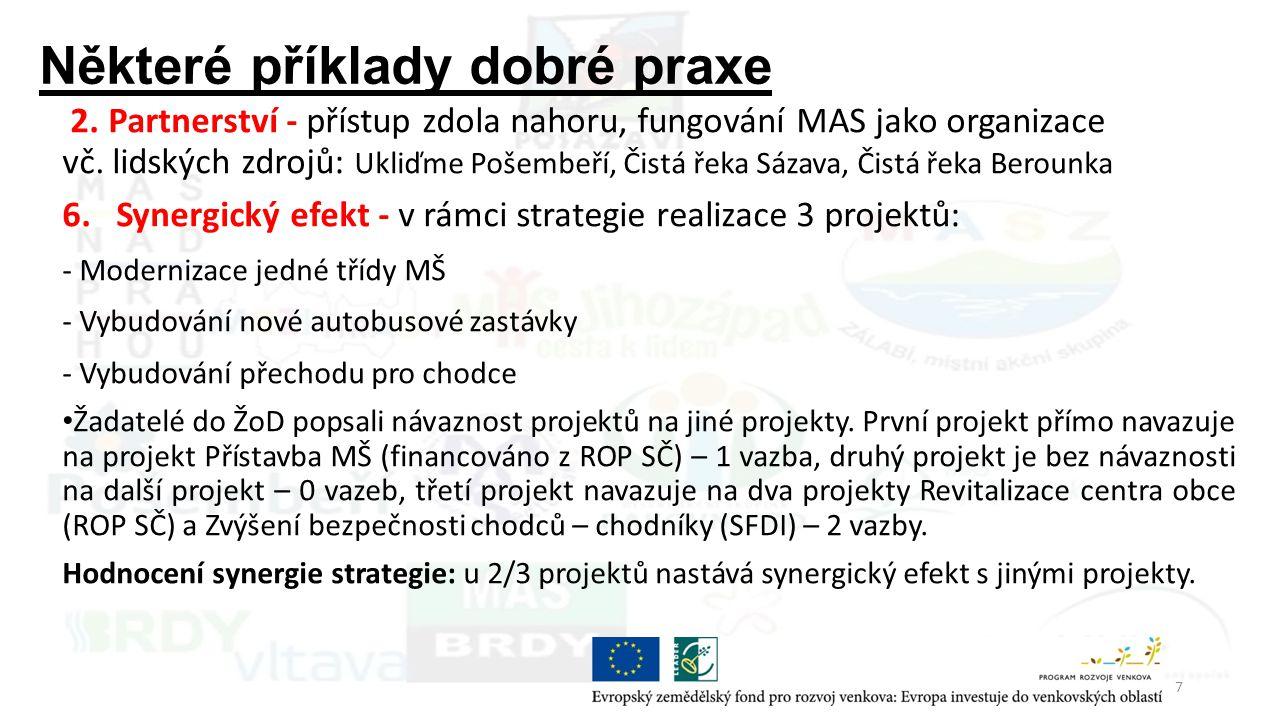 Příklady dobré praxe Strategický cíl: 1.