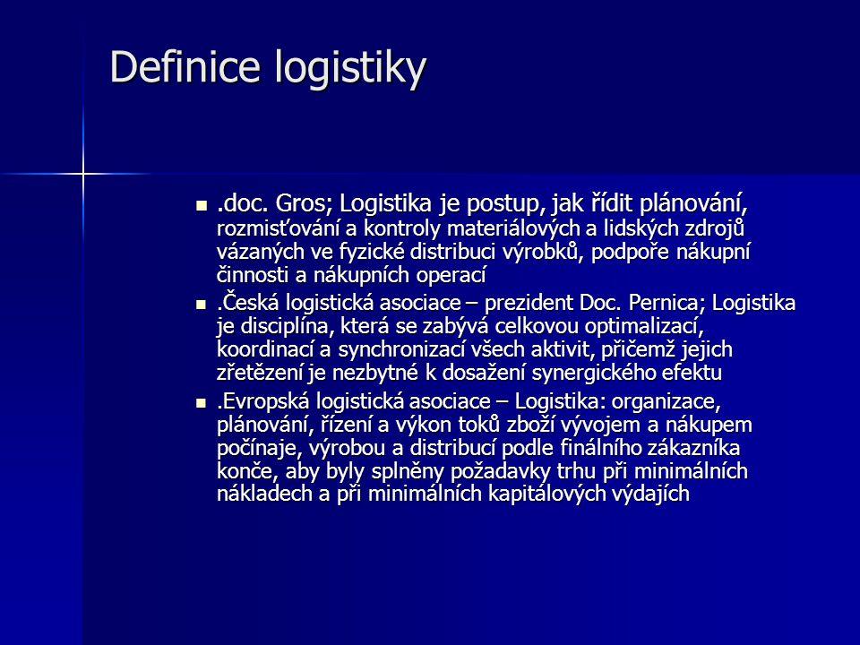 Etapy logistiky ad 1) logistika nepřinášela významné úspory, obchod sledoval nákup, vlastní přepravě věnována minimální pozornost, fenomén distribuce
