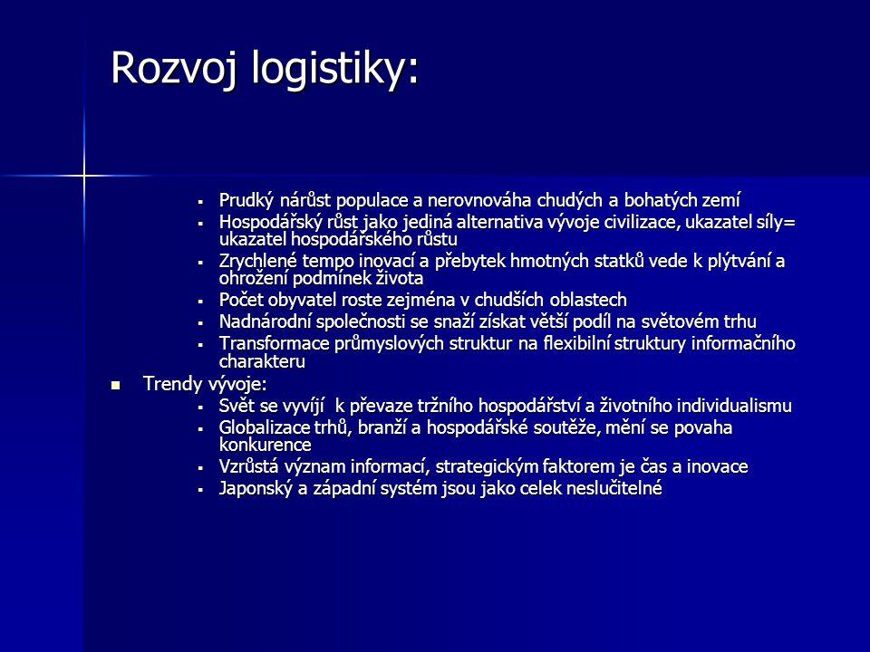 Definice logistiky.doc. Gros; Logistika je postup, jak řídit plánování, rozmisťování a kontroly materiálových a lidských zdrojů vázaných ve fyzické di