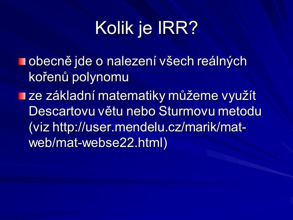 Kolik je IRR.