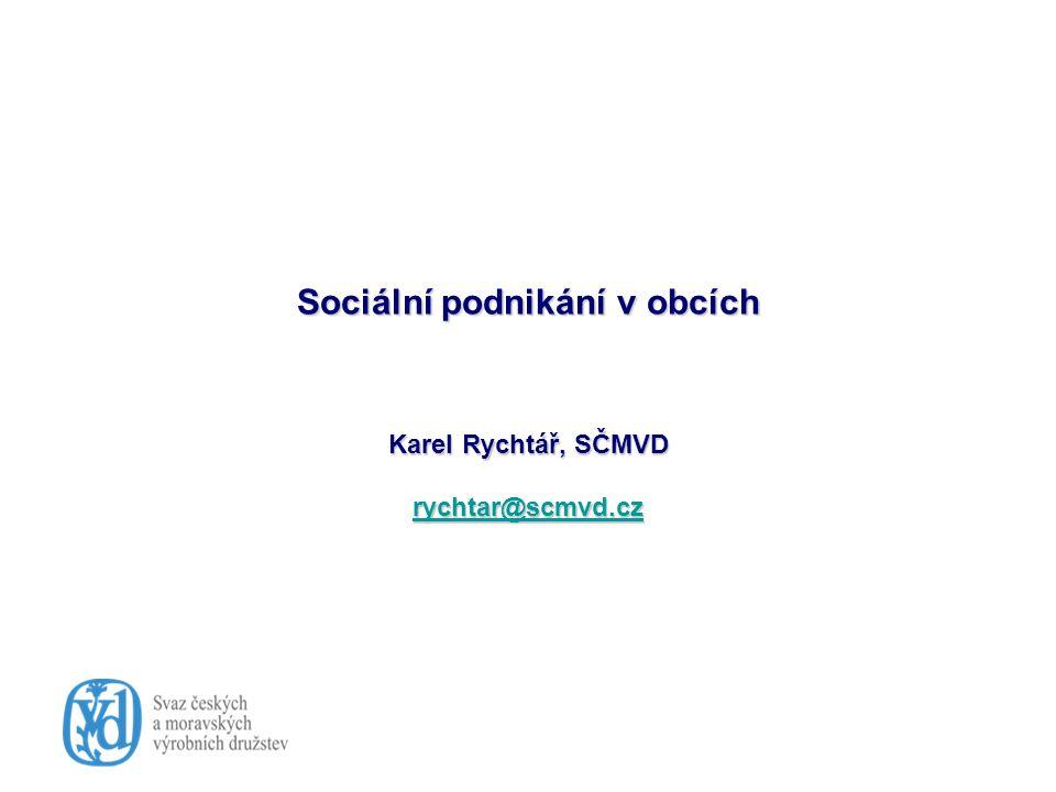 """Co může obec nebo MAS čekat od sociálního podnikání Co může obec nebo MAS čekat od sociálního podnikání Naplnění cílů komunitního rozvoje, plánu Pokrytí potřeb v oblasti služeb (nejen sociálních) Vytvoření pracovních příležitostí – nejen pro ZP, ale i pro jinak není to """"jiný nástroj politiky zaměstnanosti , jiná forma veřejně prospěšných prací Nejde o založení """"komunálního podniku , ale o vytvoření prostoru pro samostatnou iniciativu relativně málo závislou na obci nebo svazku obcí"""