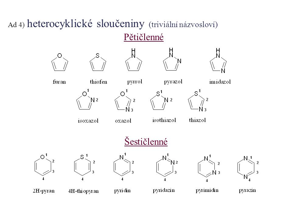Utvořte správné názvy těchto sloučenin: