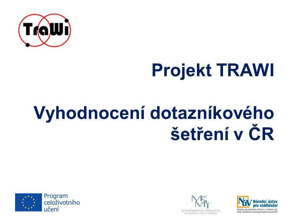 Projekt TRAWI Vyhodnocení dotazníkového šetření v ČR
