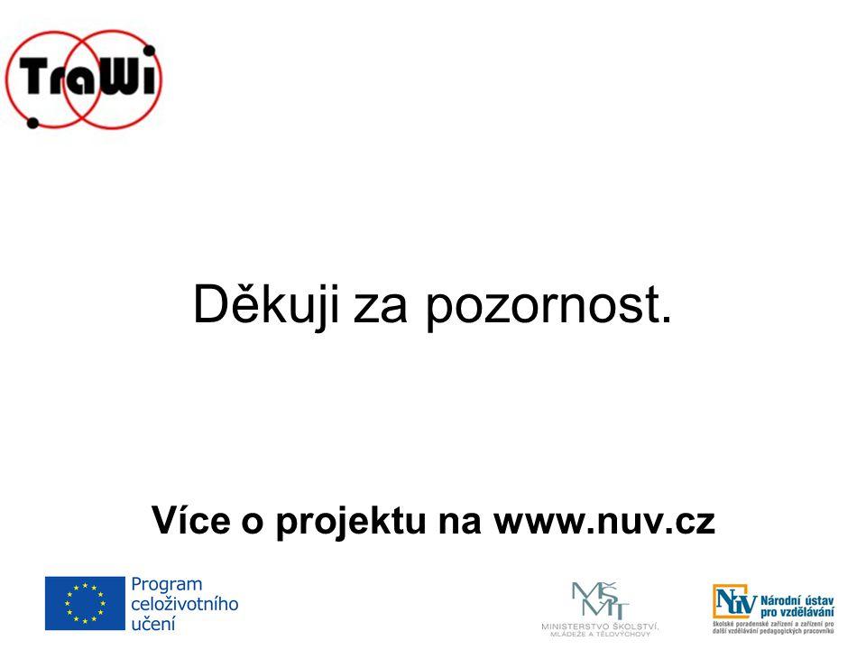 Děkuji za pozornost. Více o projektu na www.nuv.cz
