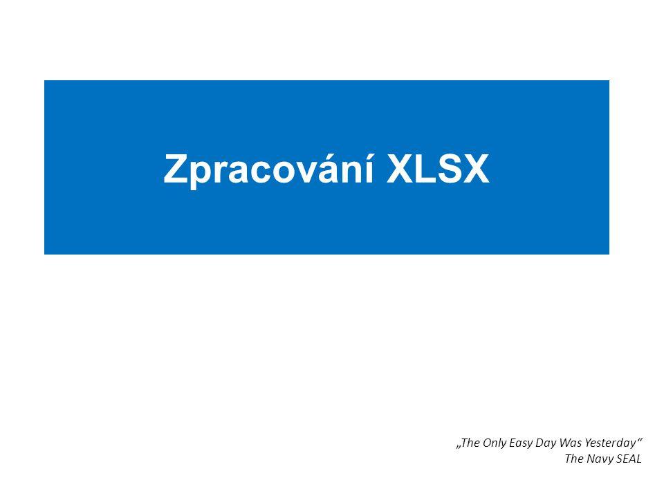 """Zpracování XLSX """"The Only Easy Day Was Yesterday"""" The Navy SEAL"""
