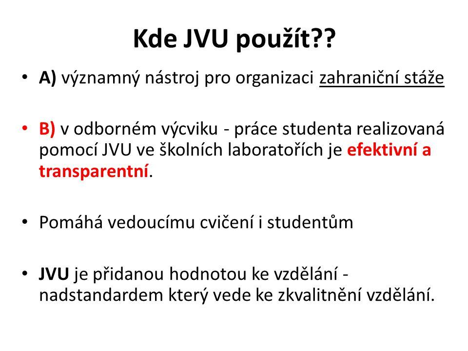 Kde JVU použít .