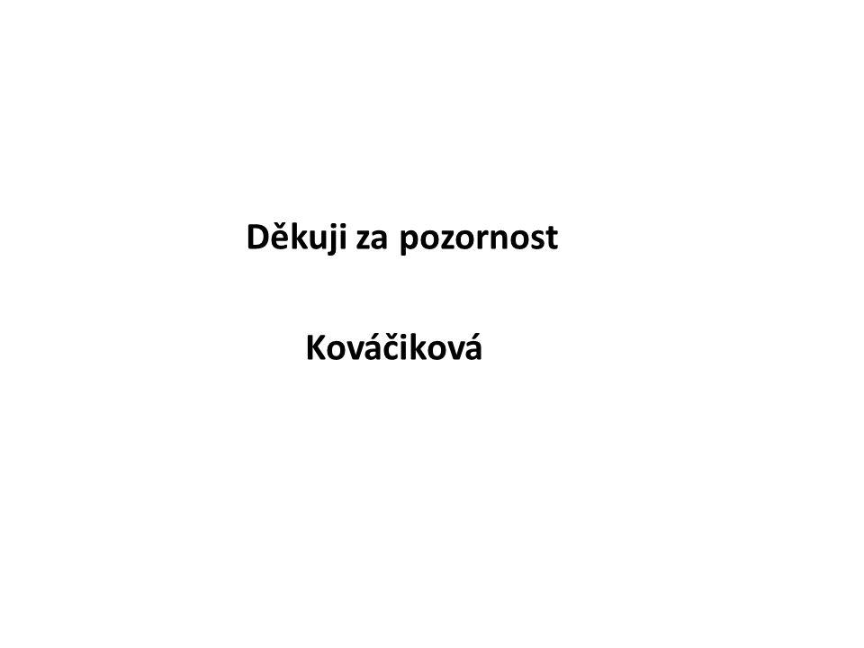 Děkuji za pozornost Kováčiková