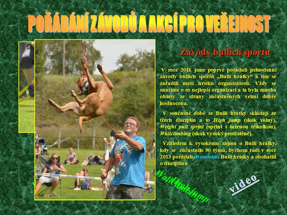 Závody v agility Mezi nejznámější závody patří především závody v agility, které pořádá Oblastní skupina agility Jahoda Kladno, která je členem 238.ZKO Kladno a to za účasti cca 120 týmů z celé ČR a zahraničí.