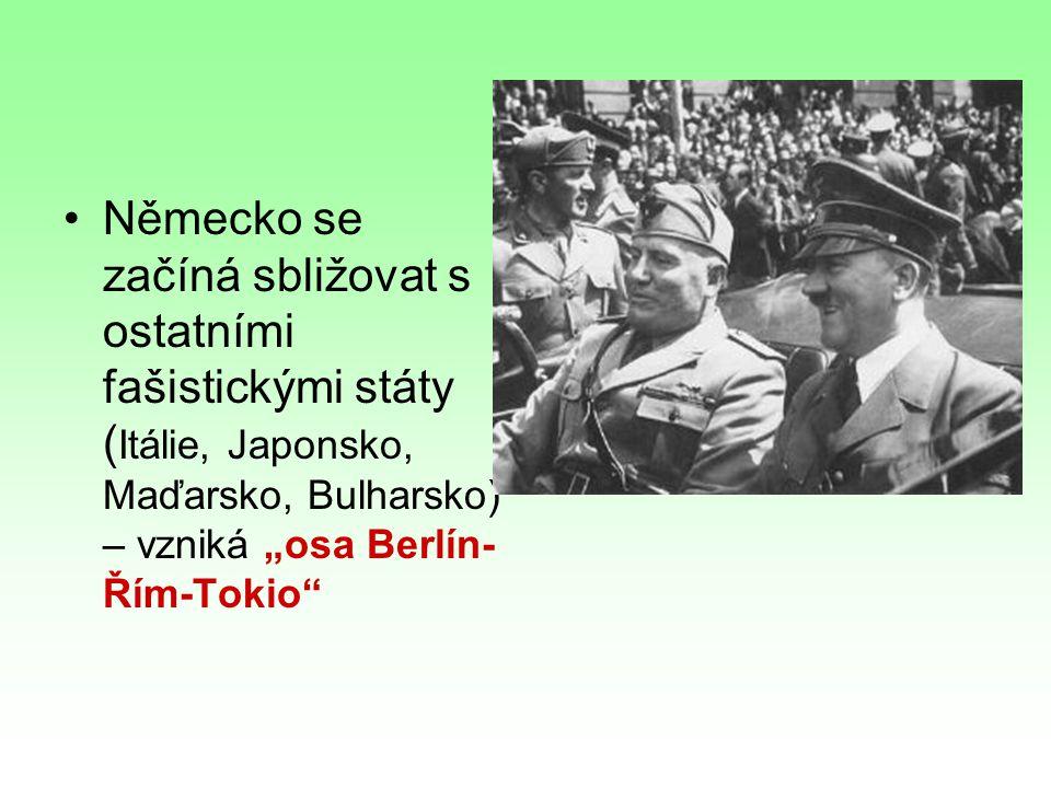 Duben 1939- Itálie obsadila Albánii 23.8.