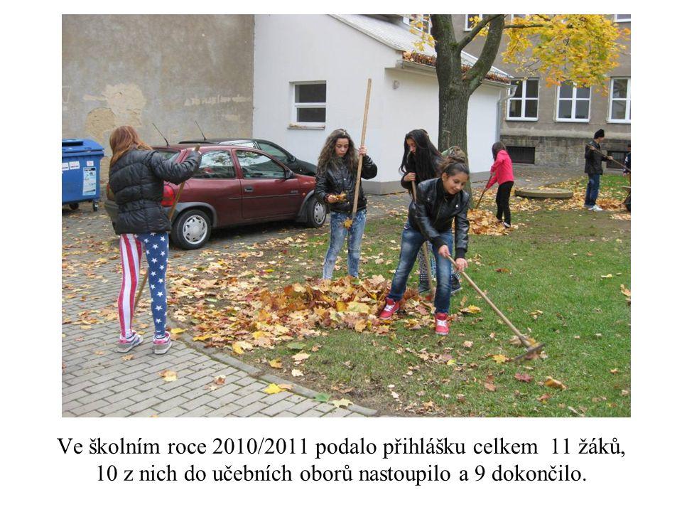 Ve školním roce 2010/2011 podalo přihlášku celkem 11 žáků, 10 z nich do učebních oborů nastoupilo a 9 dokončilo.