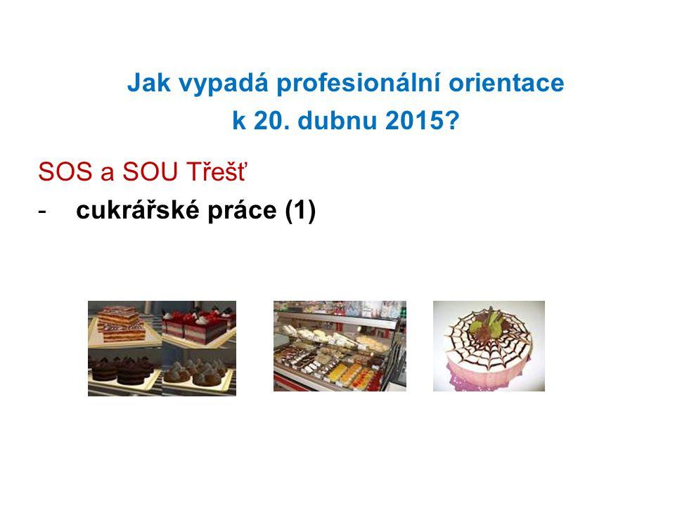 Jak vypadá profesionální orientace k 20. dubnu 2015? SOS a SOU Třešť -cukrářské práce (1)