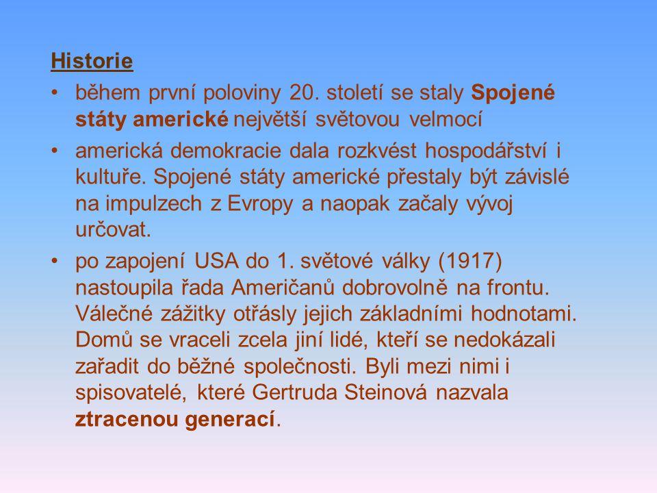 Historie během první poloviny 20.