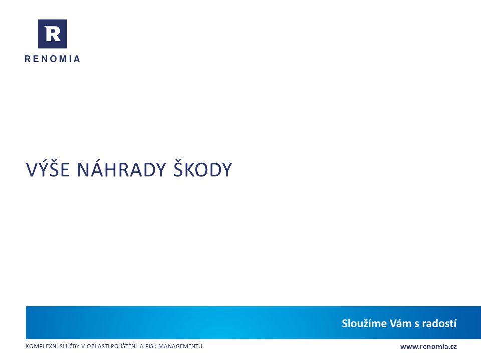 www.renomia.cz KOMPLEXNÍ SLUŽBY V OBLASTI POJIŠTĚNÍ A RISK MANAGEMENTU VÝŠE NÁHRADY ŠKODY