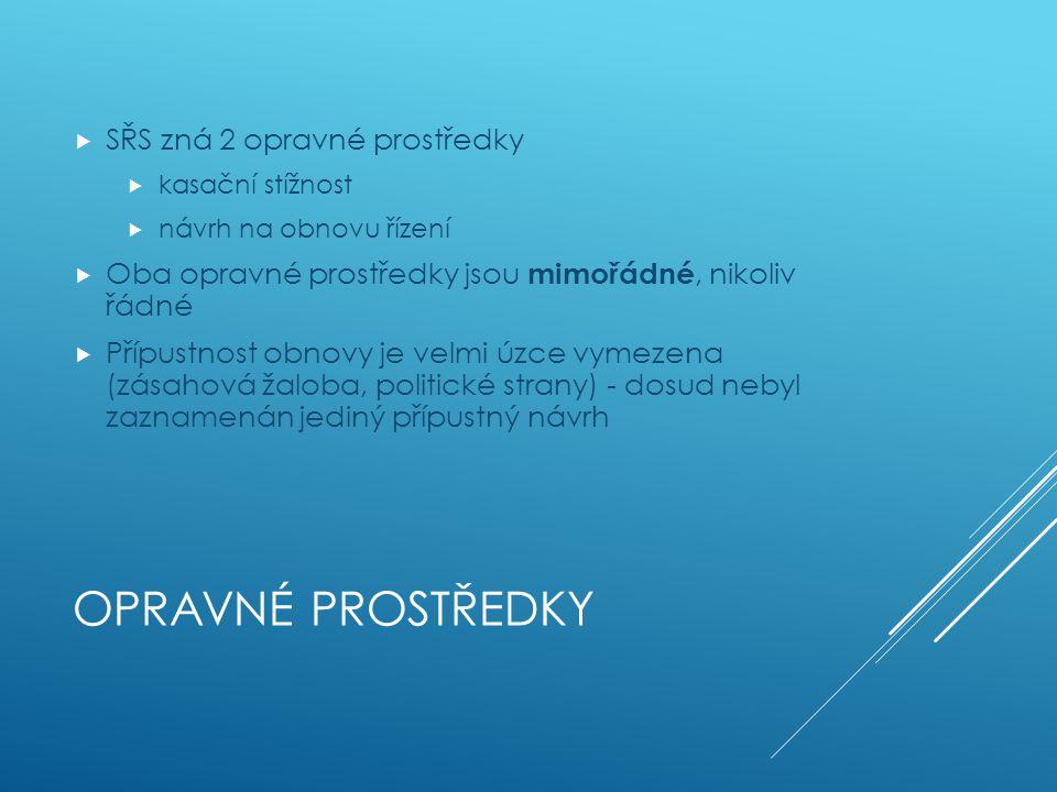 OPRAVNÉ PROSTŘEDKY Část II. 11.