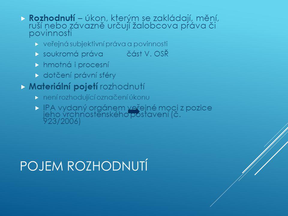ŽALOBA PROTI ROZHODNUTÍ SPRÁVNÍHO ORGÁNU Část II. 6.