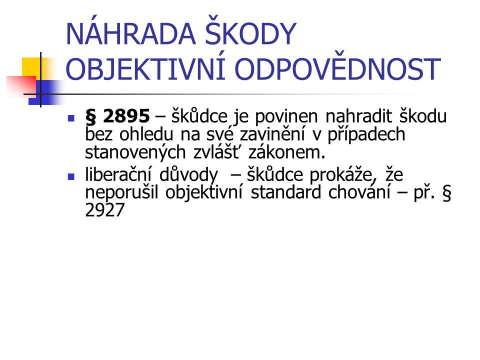 ZVL.SK. P. – Š. ZPŮSOBENÁ VADOU VÝROBKU § 2939-2943 - převzetí právní úpravy ze zák.