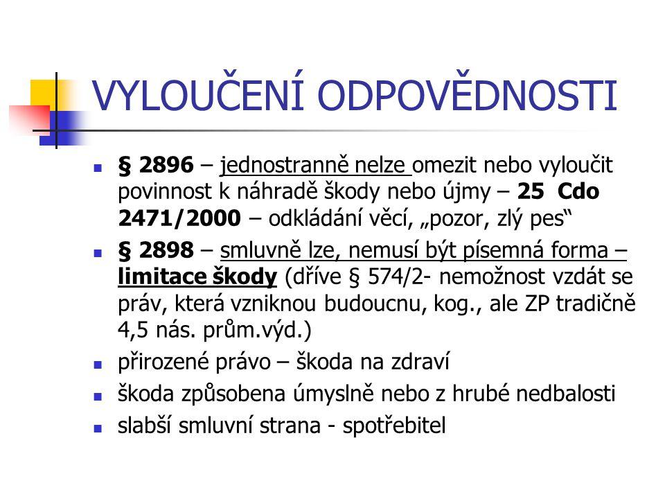 METODIKA NS ČR-BOLEST BOLEST - z hlediska požadavků § 13 o.