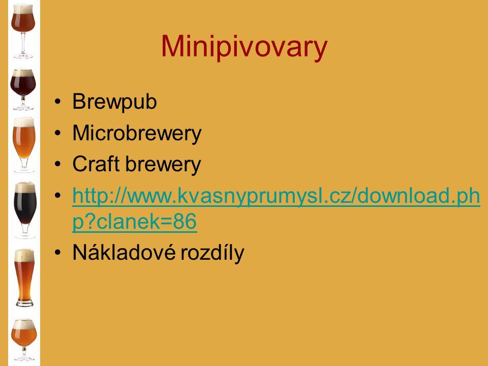 Minipivovary Brewpub Microbrewery Craft brewery http://www.kvasnyprumysl.cz/download.ph p?clanek=86http://www.kvasnyprumysl.cz/download.ph p?clanek=86