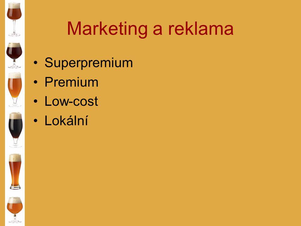 Marketing a reklama Superpremium Premium Low-cost Lokální