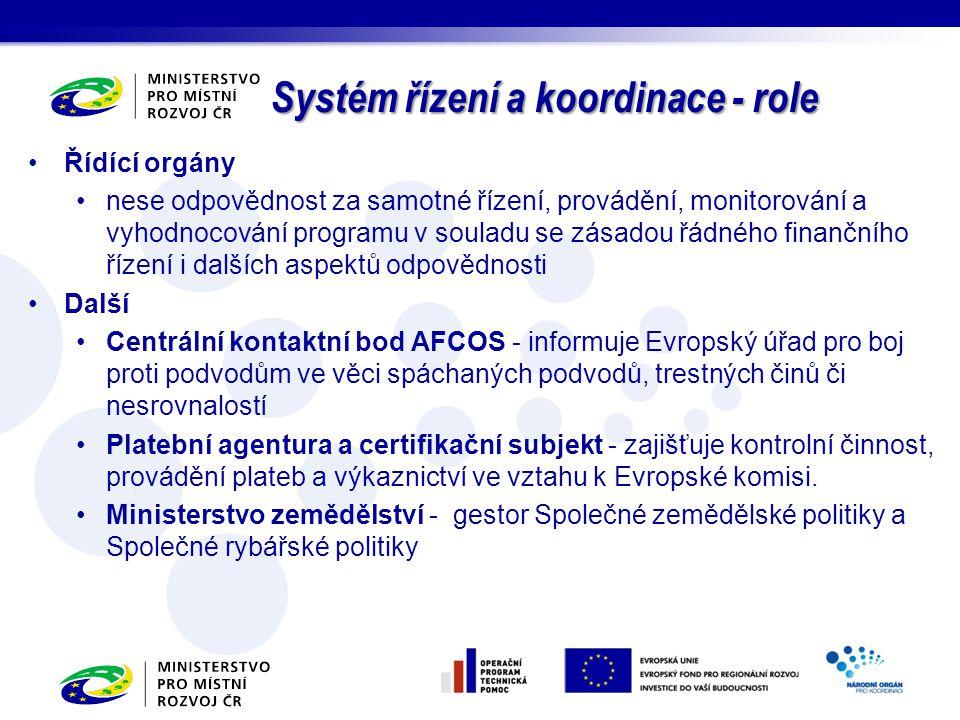 Řídící orgány nese odpovědnost za samotné řízení, provádění, monitorování a vyhodnocování programu v souladu se zásadou řádného finančního řízení i da