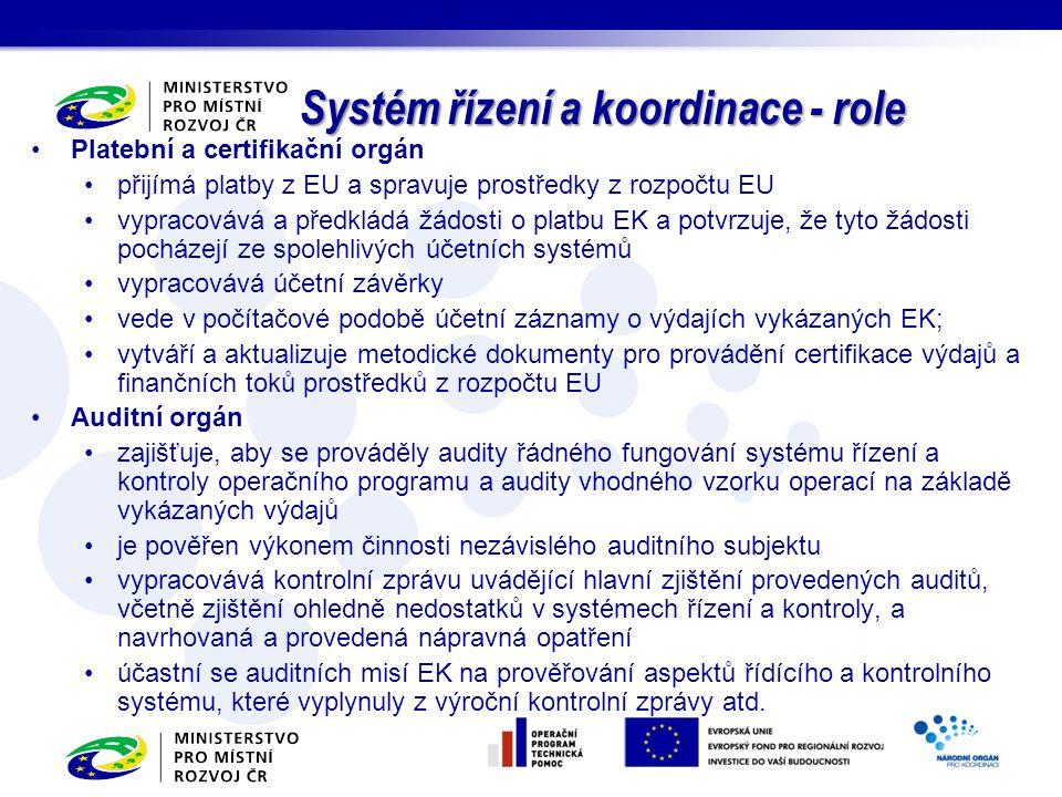 Platební a certifikační orgán přijímá platby z EU a spravuje prostředky z rozpočtu EU vypracovává a předkládá žádosti o platbu EK a potvrzuje, že tyto