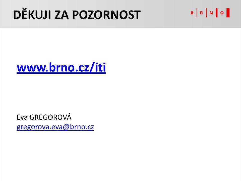 Eva GREGOROVÁ gregorova.eva@brno.cz DĚKUJI ZA POZORNOST www.brno.cz/iti
