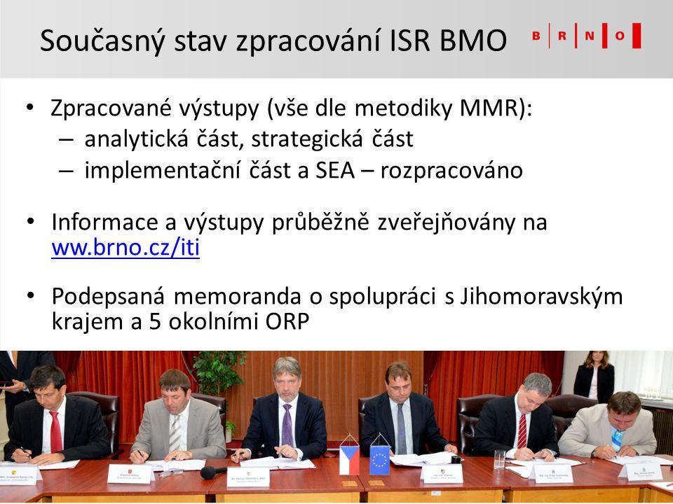 Zpracované výstupy (vše dle metodiky MMR): – analytická část, strategická část – implementační část a SEA – rozpracováno Informace a výstupy průběžně