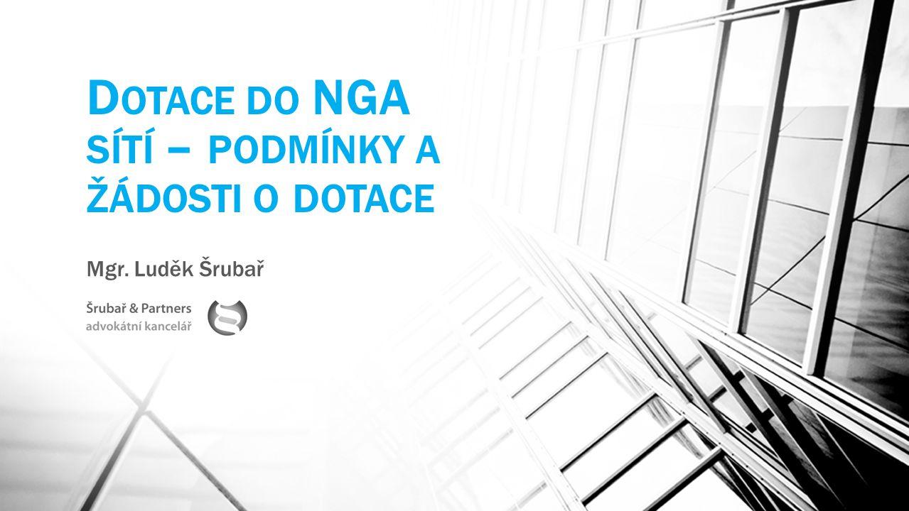 III.Dotace na NGA – základní pojmy žádosti typ účetní jednotky způsobilé výdaje (hranice 20 mil.
