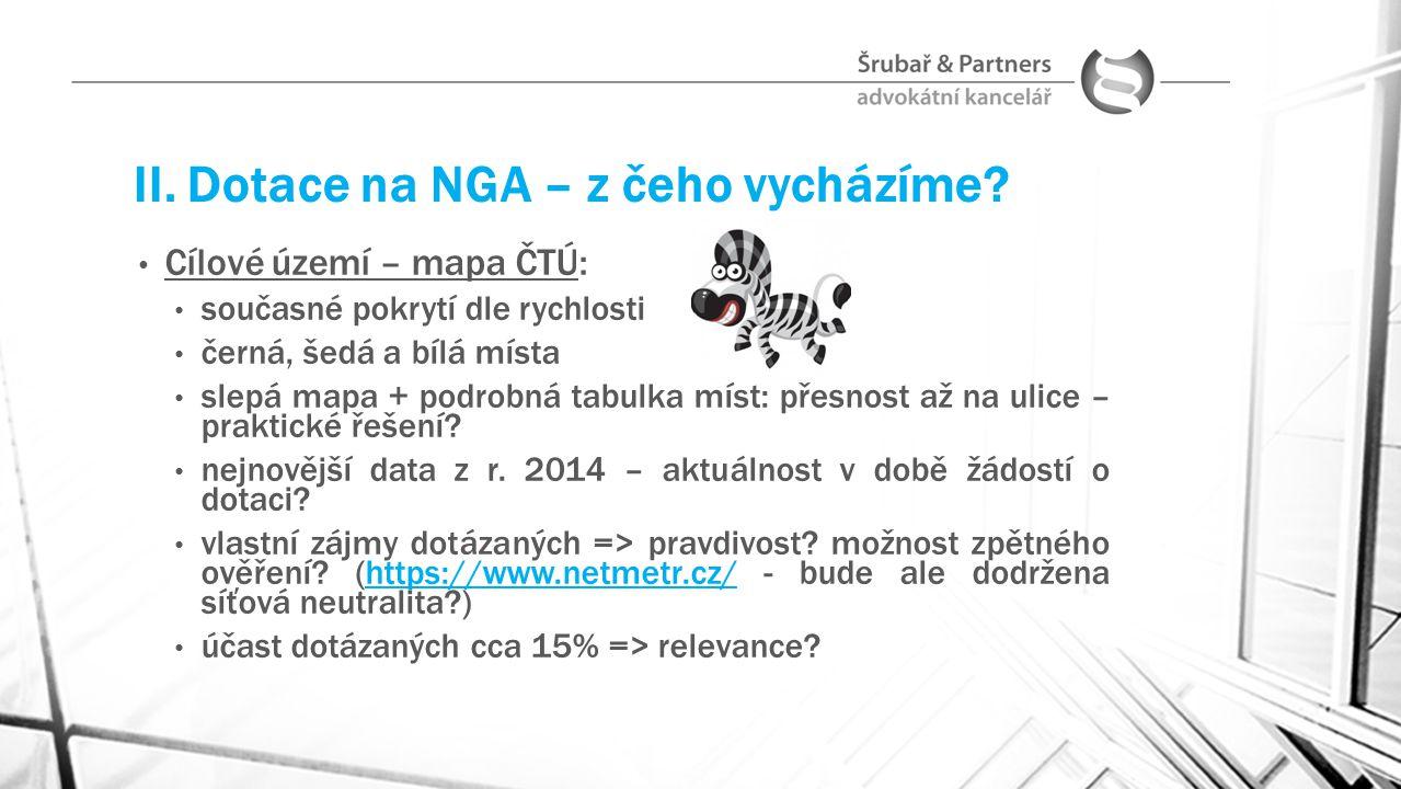 II.Dotace na NGA – co teprve zjistíme.