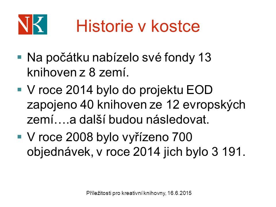 Historie v kostce  Na počátku nabízelo své fondy 13 knihoven z 8 zemí.