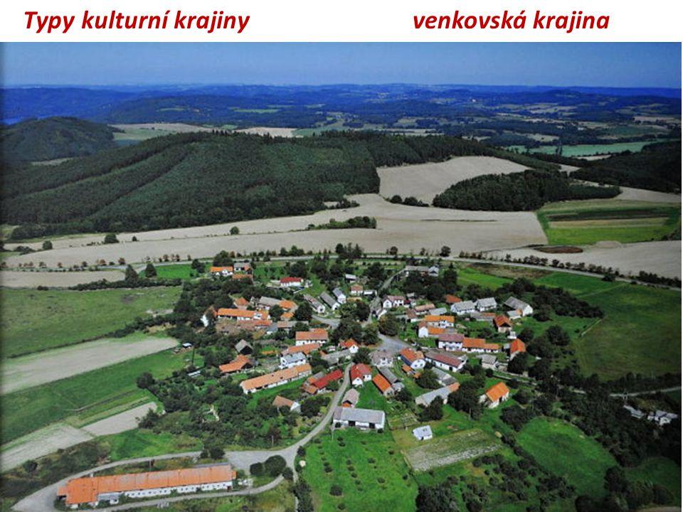 venkovská krajinaTypy kulturní krajiny