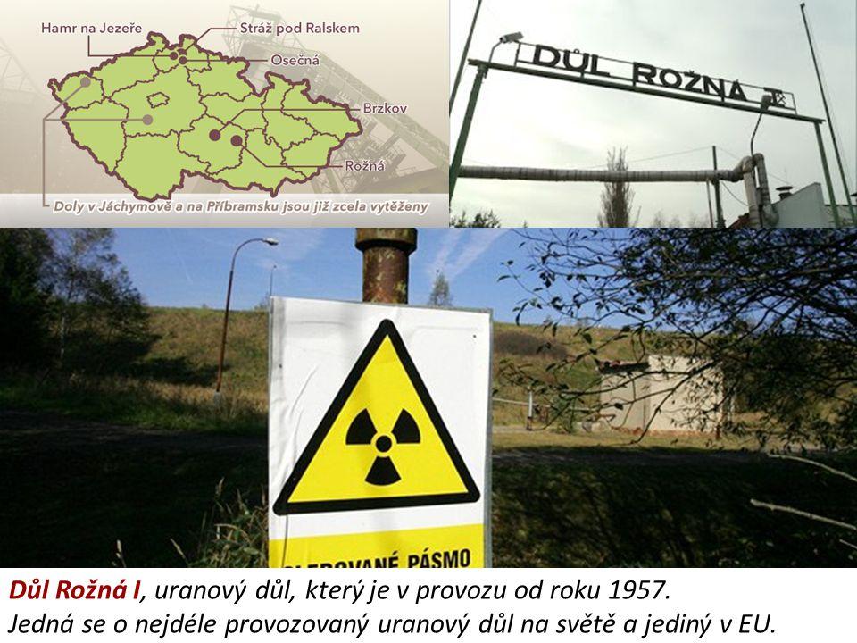 Důl Rožná I, uranový důl, který je v provozu od roku 1957. Jedná se o nejdéle provozovaný uranový důl na světě a jediný v EU.