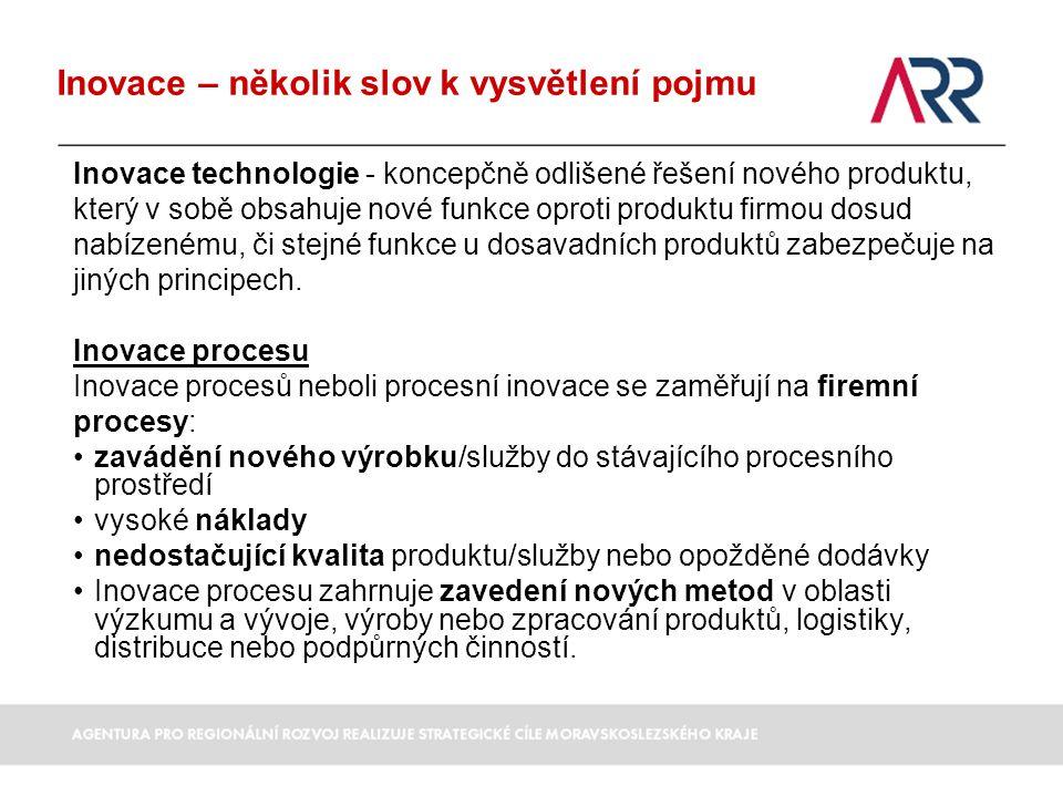 Inovace technologie - koncepčně odlišené řešení nového produktu, který v sobě obsahuje nové funkce oproti produktu firmou dosud nabízenému, či stejné