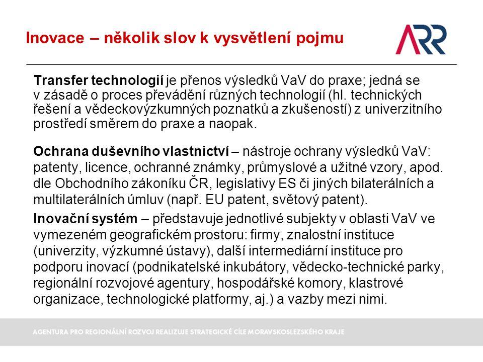 Transfer technologií je přenos výsledků VaV do praxe; jedná se v zásadě o proces převádění různých technologií (hl. technických řešení a vědeckovýzkum